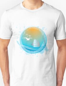 Abstract seaside landscape T-Shirt