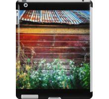 Rusty tin roof on a red barn  iPad Case/Skin