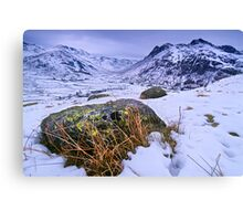 Great Langdale in Winter - The Lake District Canvas Print