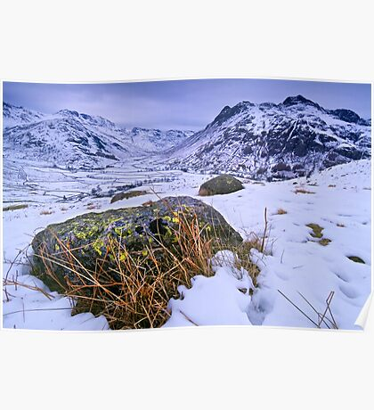 Great Langdale in Winter - The Lake District Poster