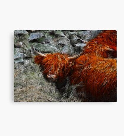 Fractalius Bulls #2 Canvas Print