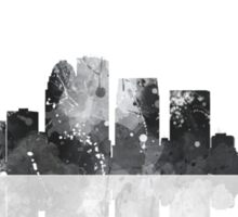 Louisville, Kentucky Skyline - Black and White Sticker