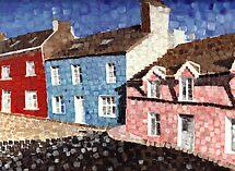 The blue house with dots..1998 by Sandro Vivolo