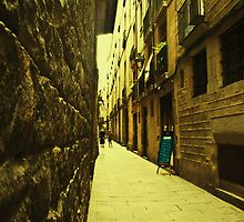 I dreamt about a narrow street where i could find you. You were not there. Instead i found myself. by Ninit K