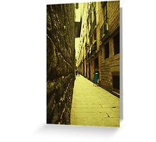 I dreamt about a narrow street where i could find you. You were not there. Instead i found myself. Greeting Card