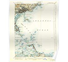 Massachusetts  USGS Historical Topo Map MA Boston Bay 352517 1903 62500 Poster
