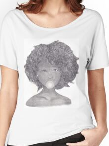 Girl with Gum Women's Relaxed Fit T-Shirt