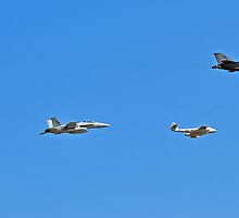 From Past to Present, Aircraft Fly Past by bazcelt
