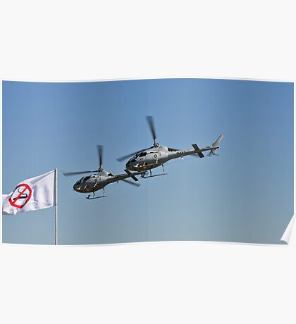 Smokin Duelling 'Copters Poster