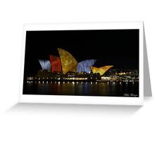 Coloured Sails Greeting Card