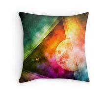 Abstract Full Moon Spectrum Throw Pillow