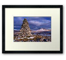 Ingleborough from Twisleton Scars - The Yorkshire Dales Framed Print