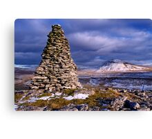 Ingleborough from Twisleton Scars - The Yorkshire Dales Canvas Print