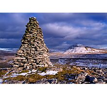 Ingleborough from Twisleton Scars - The Yorkshire Dales Photographic Print