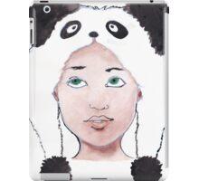 Girl in Panda Hat iPad Case/Skin