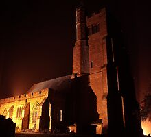 Biddenden Church at Night by Dave Godden