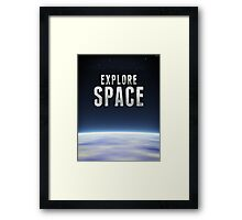 Explore Space Framed Print
