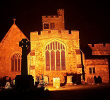 Biddenden Church at Night East End by Dave Godden
