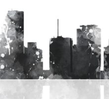 Miami, Florida Skyline - Black and White Sticker