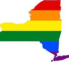 LGBT Flag Map of New York  by abbeyz71