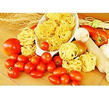 Pasta and tomato Photographic Print