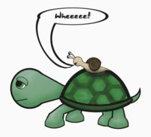 What did Snail say when he rode Turtle's back? by sybilthorn