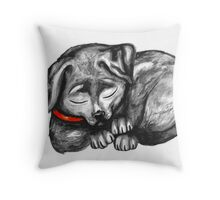 Sleeping Lab Throw Pillow