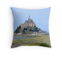 Mont-Saint-Michel, France... Throw Pillow