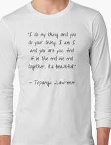 Boy Meets World Quote Long Sleeve T-Shirt