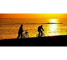 cyclists Photographic Print