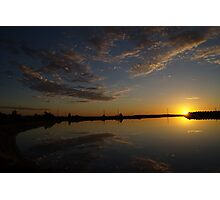 Saltpan Sunset Photographic Print
