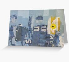 they came waving flags Greeting Card