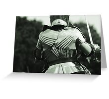 Pauldrons and Backplate Greeting Card