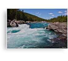 Wonderful Norway . Otta River . Oppland . Brown Sugar Story. Canvas Print