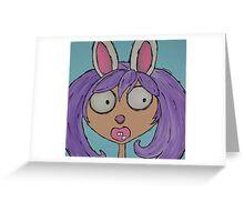 Bunny Girl Greeting Card
