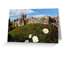 The majestic Corfe castle Greeting Card