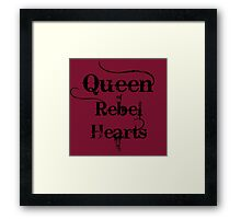 Queen of Rebel Hearts Framed Print
