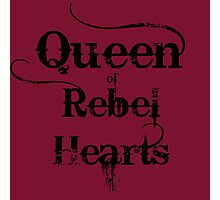 Queen of Rebel Hearts Photographic Print