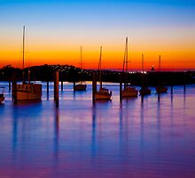 Sunset over the bay by John Vandeven