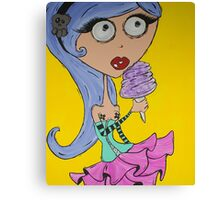 Cotton Candy Girl Canvas Print