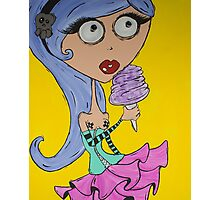 Cotton Candy Girl Photographic Print