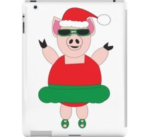 Christmas Ballet Pig iPad Case/Skin