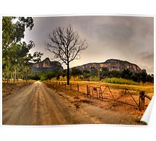 Road to Somewhere - Capertee Valley, NSW Australia - The HDR Experience Poster