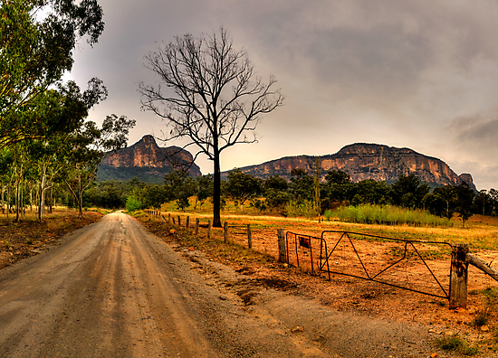 Road to Somewhere - Capertee Valley, NSW Australia - The HDR Experience by Philip Johnson