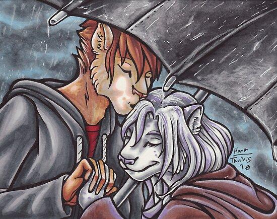 Rainy Kisses by Erika Harm