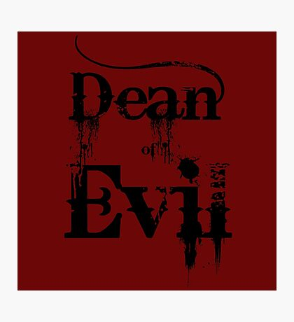 Dean of Evil Photographic Print