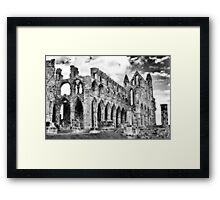 Whitby Abbey #2  B & W Framed Print