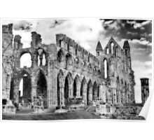 Whitby Abbey #2  B & W Poster
