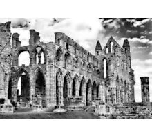 Whitby Abbey #2  B & W Photographic Print