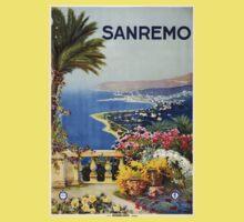 Vintage San Remo Travel Poster Kids Clothes
